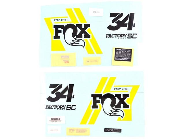 Fox Racing Shox Decal Kit for 34 SC Factory, black/yellow